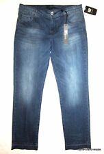 Kut From The Kloth NWT Jeans WOMENS 6 Dark Faded Denim Slim Leg Raw Hems NEW