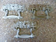 THREE ANTIQUE FRENCH CAST IRON DOOR HANDLES. ANTIQUE FRENCH CHATEAU DOOR KNOBS