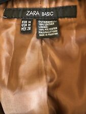 ZARA Ladies Buttery Soft 100% Leather Jacket Tan Size M