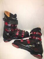 Atomic Ti 7 Downhill Ski Boot 32.0 Sz Us 14 364mm Black/Red