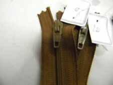 fermeture eclair marron moyen ykk  pantalon jupe  robe 20cm neuf  r3m17