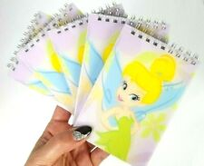 5 Pack Purple Sweet Tinkerbell Disney Spiral Notebook Memo Pads For School Work