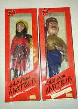 "Turkish Fatos Middle Eastern Figures ""Hello From Anatolia"" Vintage NEW"