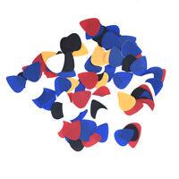 Approx. 100pcs Plastic Guitar Picks Plectrums--Assorted Random Color SS