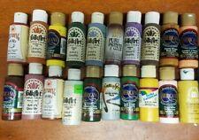 20 Acrylic Paint lot 2 oz. Bottles~Americana~Folk Art~Delta Ceramcoat NEW & USED