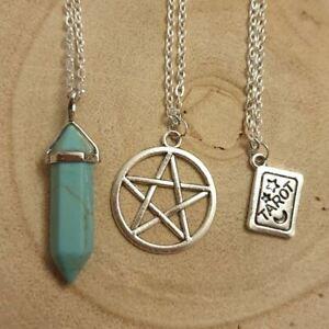 Occult Turquoise Necklace Set, Bundle,Necklaces,Gothic,Gemstone,Boho,Bohemian
