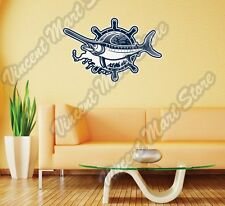 "Swordfish Fishing Fisherman Lures Wall Sticker Room Interior Decor 25""X20"""