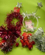 16 teilig Weihnachten Nikolaus Damen Mädchen Haarclips Haarreifen Lametta - NEU