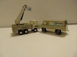 VINTAGE TONKA BELL SYSTEM LOT - BUCKET TRUCK SERVICE VAN 1970'S  - LOT OF 2