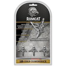 Ramcat Diamondback Broadheads 125 Grain 3 Pack