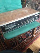 Working HALTONE 8 track / AM/FM player  Solid State RECEIVER Vintage