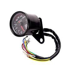 Motorcycle Dual Odometer KMH Indicateur de Vitesse Indicateur LED Noir Shell