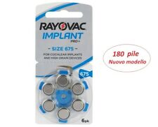 Batterie apparecchi acustici Zinc-air 675 B6754 - RAYOVAC Implant