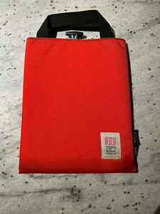 Topo Designs ipad tablet Soft Sleeve red