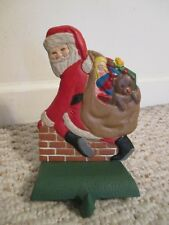 Midwest Cannon Falls Santa In Chimney Stocking Holder cast iron