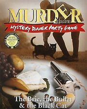 Murder Mystery Dinner Party Game The Brie Bullet Black Cat 10-12 Players