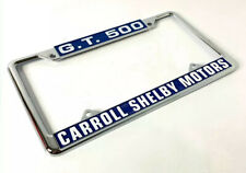 Chrome Metal License Plate Frame For Ford Mustang GT500 - Carroll Shelby Motors
