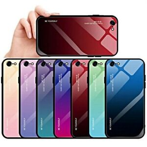 COVER per iPhone SE 2020 ORIGINALE Gradient Glass con RETRO VETRO TEMPERATO 9H