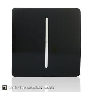 Trendi 1 Gang 1 Way Artistic Modern 10 Amp Rocker Light Switch Piano Black