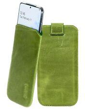 Samsung Galaxy S20 Plus Funda Cuero Móvil En Antiguo Kiwi Verde + Carcasa TPU