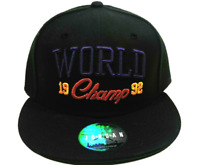 Nike Air Jordan World Champ 1992 Jumpman Adjustable Snapback Hat Cap Black VNTG