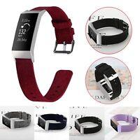 Neu Nylon Sport Armband Uhrenarmband Ersatzarmband Uhr Strap Für Fitbit Charge 3