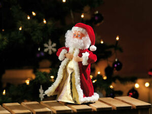 """singender & tanzender-Weihnachtsmann mit Musik, höhe 28 cm Song """"Jingle Bells"""""""