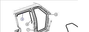 Türdichtung, Schiebetür links Chrysler Voyager RG Bj. 2001-2007  ( 04894577AA )
