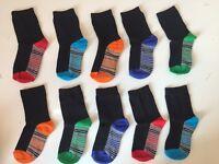10 Pairs kids socks KIDS/BOYS/CHILDREN'S COTTON RICH SCHOOL Years 6-9 MALATYA