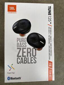 NEW * JBL Tune 125TWS Truly Wireless In-Ear Bluetooth Headphones Black * SEALED