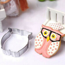 Kitchen Craft Owl Shaped Stainless Steel Biscuit Cookie Cutter Cake Mold Mould