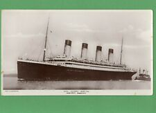 More details for rms olympic sister ship to titanic book post giant rp postcard c r hoffman  t748
