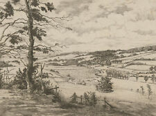 Early 20th Century Etching - Rural English Fields