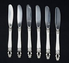 Gorham Sterling Silver Butter Knife Set of 6, Hispana Sovereign Design