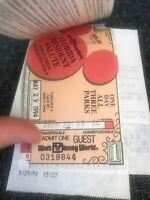 Vintage 1994 Set Of 2 Walt Disney World One Day Tickets & Parking