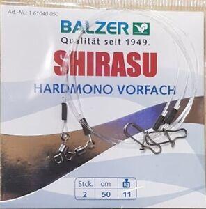 Balzer Shirasu Hardmono Vorfach, 2 x 0,5 m