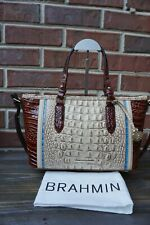 Authentic Brahmin Mini Asher Sand Santana Melbourne Leather Satchel--NWT $315