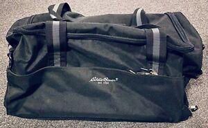 "Eddie Bauer Rolling Canvas Duffel Bag 24"" Long Wheels Extend Handle Wheeled"