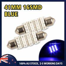 2 x 41mm 16 LED Ice Blue Super Bright Festoon Bulb Interior Dome Reading Light