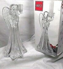 """By MIKASA Roman Angel Full Lead Crystal Candle Holder Sticks 7.5"""" Germany in Box"""