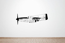 USAF WW2 North American P51 Mustang Fighter Plane Side wall art decal / sticker.