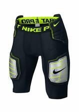 Nike Men's Hyperstrong Compression Hard Plate Football Short Black/Volt 2Xl New