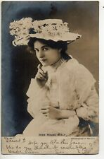 70262 Orig 1905 RPPC PC British Theatre Actress Miss Maude Fealy in picture hat