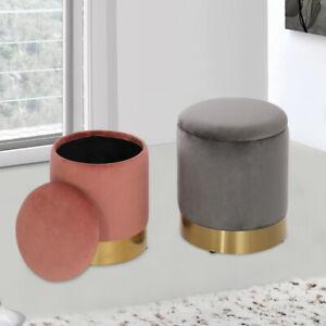 Nordic Stool Coffee Table Sofa Side Stand Storage Ottoman Makeup Circular Chair