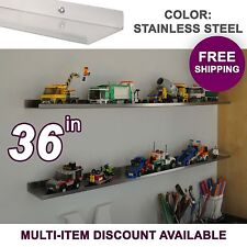 "3'/36"" ultraLEDGE Stainless Steel LEGO Display / Shelf / Ledge"