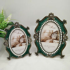 Crafts European Retro For Picture Multi Size Artificial Pearl Oval Photo Frame