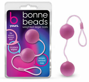 Bonne Beads Pink- Weighted Kegel Ben Wa Balls Vaginal Exerciser Wire included