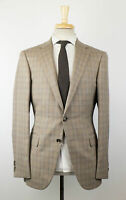 New PAL ZILERI MAINLINE Brown Plaid Wool 2 Button Sport Coat 50/40R Drop 8 $1495