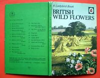 British Wild Flowers vintage Ladybird book nature foxglove marigold honeysuckle'