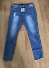 BNWT MISSGUIDED SINNER HIGH WAISTED DISTRESSED SKINNY JEANS SIZE 14S